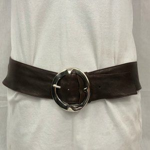 B-low the Belt leather Statement Silver buckle